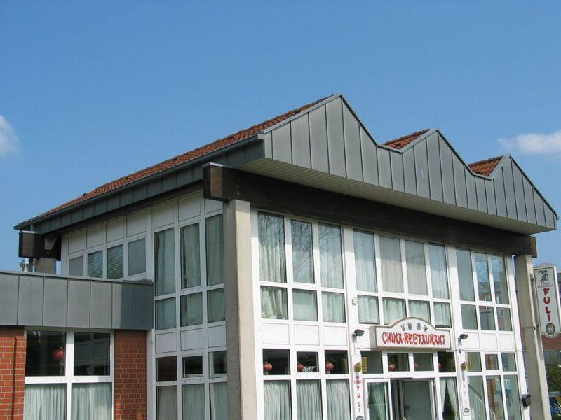 Dachkonstruktion auf 4 Pfosten